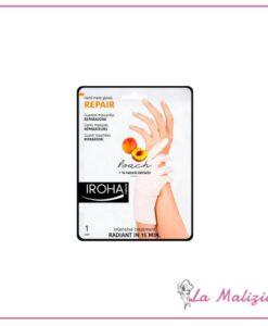 Iroha guanti riparatori maschera per mani e unghie - pesca