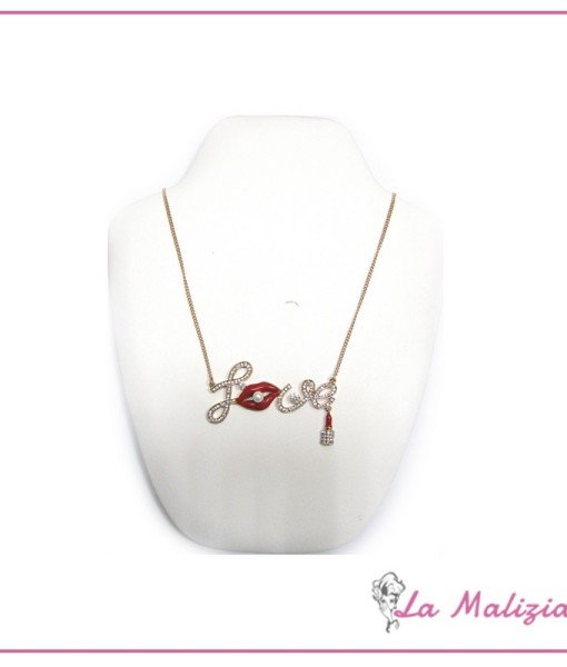 Collana Love in red art. 83-02