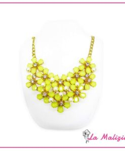 Collana  Yellow Shiny Flowers