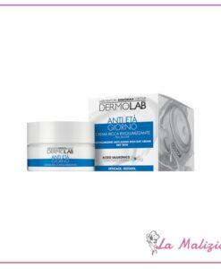 Dermolab crema ricca rivolumizzante anti età giorno spf 10 50 ml