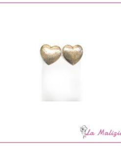 Orecchini a lobo gold heart art. 82-58