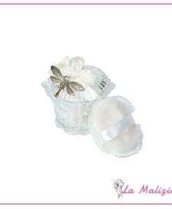 Biffoli talco profumato all'essenza di rosa bianca art.90126 bianca1