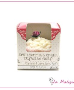 Rose & Co. Cramberries & Cream cupcake soap 120g