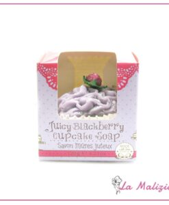 Rose & Co. Juicy Blackberry cupcake soap 120g