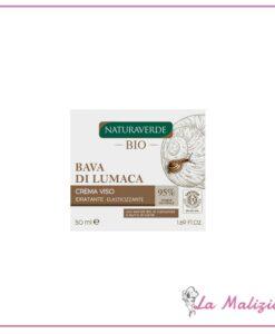 Naturaverde Bio Bava di Lumaca crema viso idratante elasticizzante pelli mature 50 ml