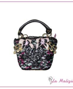 Biffoli borsa Le Chicche Mini con Pizzo nero Art. 20714