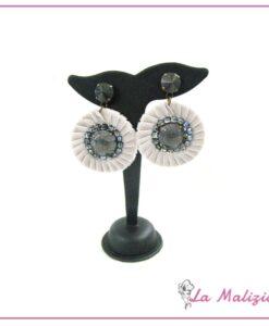 Orecchini Grey velvet Flower art. 5645