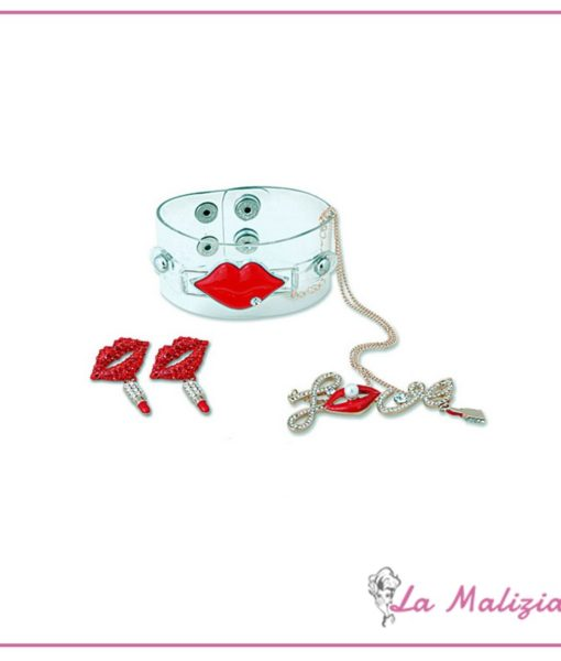 Parure Red Mouth Crystal n° 01