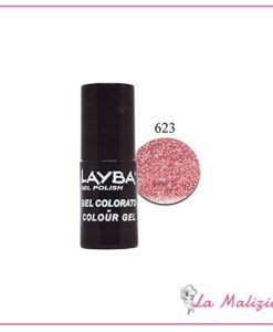 Layla Layba smalto gel polish n° 623 Pinky Glitter