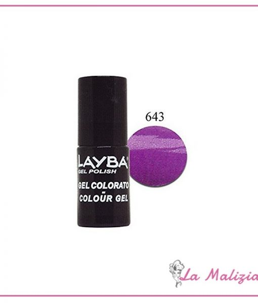 Layla Layba smalto gel polish n° 643 Purple Shock