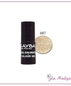 Layla Layba smalto gel polish n° 687 Gold Glitter