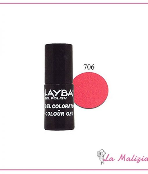 Layla Layba smalto gel polish n° 706 Dark Pink Fluo