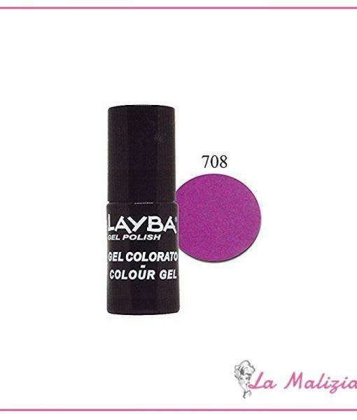 Layla Layba smalto gel polish n° 708 Violet Fluo