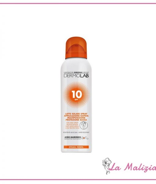 Dermolab Latte Solare Spray spf 10 150 ml