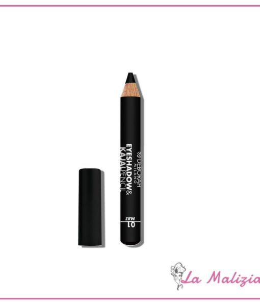 Deborah Eyeshadow&Kajal pencil n° 01 Black Finish Mat