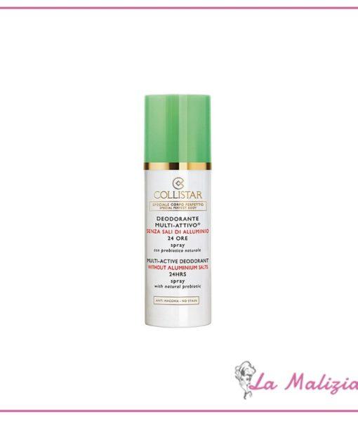 Collistar Deodorante Multi-Attivo 24 Ore Senza Sali di Alluminio 100 ml spray