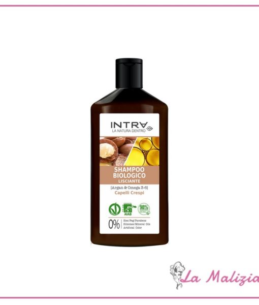 Intra Shampoo Biologico Lisciante Capelli Crespi 250 ml