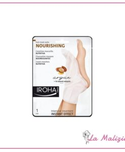 Iroha calzini maschera nutritiva per piedi e unghie - argan